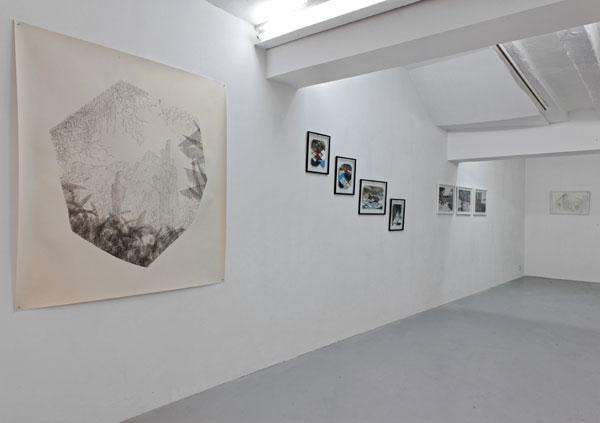 drawings, vue générale de l'exposition, Fleur Noguera, Thomas Klimowski, Tamara De Wehr