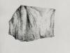 Protection Piece IV (Protective Covers for Garden Furniture, Bench), 2009 - 2012, encre sur papier,  21 x 29,7 cm