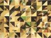 Passé composé (rouge), 2012 - 2013, collage, 21 x 30 cm, pièce unique  Passé composé (jaune), 2012 - 2013, collage, 21 x 30 cm, pièce unique Passé composé (bleu), 2012 - 2013, collage, 21 x 30 cm, pièce unique