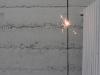 A spark kept alight, 2013, 1000 sparklers, 2mm cable, duration: 8h, dimensions: 60m, height of cable: 4m. Event (durational sculpture) part of exhibition : Friche du Palais de Tokyo, Paris, France. Collection Frac Franche Comté, France
