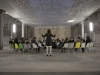 Book Concerto in One Act: for 34 Penguins, 2010, performance for 34 Penguinbooks, 34 people and 1 conductor. Done at Friche du Palais de Tokyo, Paris, France
