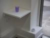 Mes pensées noyées, 2012, à l'encre violette, verre d'eau; série d'oeuvres uniques