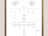 Opus No 5, 2008 -  2018, partition, impression typographique sur papier (letterpress), cadre chêne, sous verre,  40 x 29,7 cm (sans cadre), 42 x 32 cm (avec cadre), édition de 5 + 2 EA
