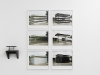 Hey Judd, 2008, white triptych, framed pigment print, 30 x 34 cm, edition of 5.