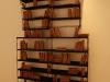 Libraries of grandparents, 2016, raw pottery, metal, wood, paper, electric lamp, variable dimensions. In the collective exhibition Les Enfants de Sabbat 18, Centre d'art Creux de l'enfer, Thiers, France