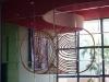 Movimiento de (por) si mismo (Mouvement de (pour) en soi), 2019, installation, argile, miroir, 700 x 500 x 6 cm, pièce unique. Exposition Movimiento de (por) si mismo, Théâtre Mella, XIII Biennale de La Havane, La Havane, Cuba. Commissaire d'exposition : Ex Situ