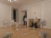 Aireando comunicación (Ventilant la communication), 2013, ventilateur, rallonges, dimensions variables. Dans le cadre de l'exposition Les appartés 4, Galerie Domi Nostrae, Lyon, France