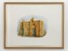 Sphinx, OEdipe et Viollet-le-Duc (troisième rencontre), 2011, watercolor on paper, 36 x 48 cm (framed)