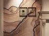Kanab, wallpaper, two oak frames, etching, postcard, anti reflective glass, variable dimensions