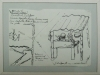 Estenopeicas rurales, Preparatory Drawing Vivas - Cabuvaro, 2015, drawing on paper, glass, white tape frame, 25 x 19 cm with frame, unique piece