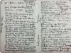 Estenopeicas rurales, Notes Témoignages Don Luis - San Luis De Ocoa, 2015, texte sur papier, sous verre, cadre en ruban adhésif blanc, 25 x 19 cm avec cadre, pièce unique
