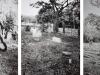 Estenopeicas rurales, Famille Garcia - Rive orientale de la rivière Ariari, 2015, tryptique, photographies sténopées, noir et blanc, 42 x 52 x 3 cm avec cadre chaque pièce, édition de 5 + 2 EA