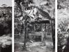 Estenopeicas rurales, Famille Vivas - Cabuyaro, 2015, tryptique, photographies sténopées, noir et blanc, 42 x 52 x 3 cm avec cadre chaque pièce, édition de 5 + 2 EA