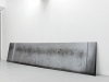 70 rue Curial (dans le couloir de l'entrée) - La marque d'un geste accompli par le désœuvrement des jeunes de mon immeuble, 2013, photographie sur contrecollé aluminium, 80 x 370 cm, pièce unique + 1 EA