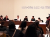The Square Table: Public Hearing of the Recruitment Requirements for the Artist-position Goverment Official, 2013, installation mixte, performance. Présenté à New Vision, New Voices, National Museum of Modern and Contemporary Art, Gwacheon, Corée du Sud, 2013