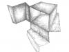 Dessins d'espace, 2015, dessins sur papier, dimensions variables, pièces uniques. Courtesy de la galerie Dohyang Lee et de l'artiste
