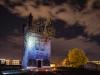 Voyage au bout de la nuit, 2018, ephemeral installation in Leipzig, Germany, spray paint, variable dimensions