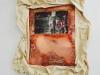 Evasion II, 2018, impression sur plaque de cuivre, oxydation, toile de coton cirée, colle à bois, tasseaux bois, environ 60 x 80 cm, pièce unique. Collection Fonds d'art contemporain – Paris Collections