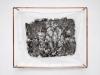 Purgatoire I, 2019, tissu coton, cire carbonisée, pigments, tatouage, cadre tubes cuivre, 103 x 83,5 x 25,5 cm, pièce unique. Photo © Aurélien Mole