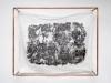 Purgatoire II, 2019, tissu coton, cire carbonisée, pigments, tatouage, cadre tubes cuivre, 103 x 83,5 x 25,5 cm, pièce unique. Photo © Aurélien Mole