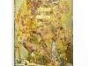Vanité II, 2017. Tableau : acides sur lation poli, 170 x 80 cm, pièce unique. Coffre : impression sur laiton poli, brassure à l'argent, objets divers, 60 x 30 x 10 cm, pièce unique