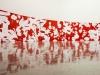 Bloody Excrement (Integral Calculus Painting), 2014, peinture uréthane sur plaques d'aluminum, 719 x 119 cm