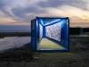 Butterflies, 2014, encre bleue sur toile, 914 x 160 cm
