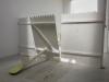Mauvaise fréquentation, 2015, installation, bois, peinture, visserie, 180 x 300 x 400 cm, pièce unique
