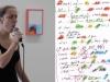 Fabula, 2013, performance vocale, 17'. Quelque chose de plus qu'une sucession de notes, Centre d'art et de recherche Bétonsalon, Paris, France