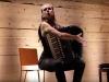 Hybird, 2017, performance voix et accordéon, 30'. La Marbrerie, Montreuil, France