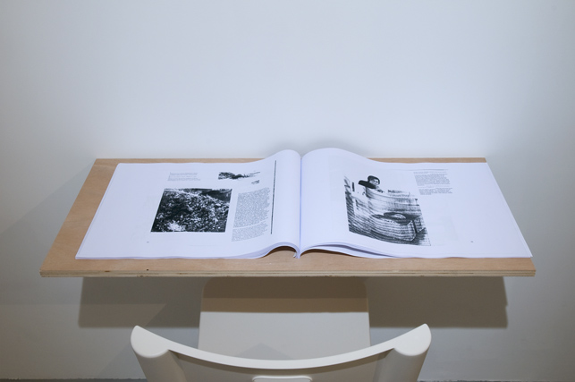 Continuous Project #3  Photocopies de To Hell and Other Stories de Muammar Qaddafi