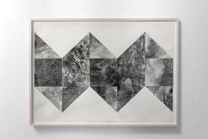 Kentucky pizza (partie 1), 2012, diptyque, encre sur papier, 100 x 70 cm, photo © Aurélien Mole.