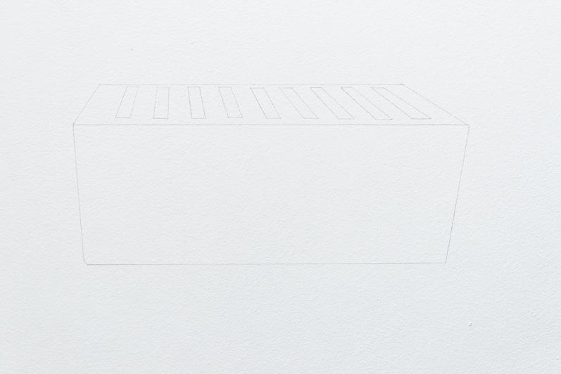 Stockage d'images, 2013, crayon noir, série de 5 dessins muraux, dimensions variables