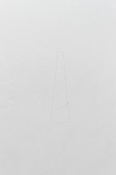 Le retroperspectief, 2013, crayon noir, série de 5 dessins muraux, dimensions variables