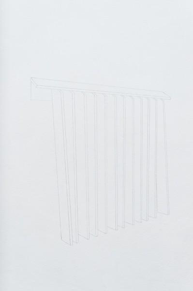 12poot, 2013, crayon noir, série de 5 dessins muraux, dimensions variables