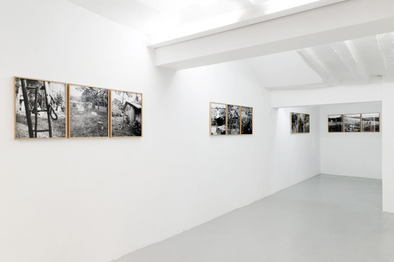 FAMILY GARCIA - Oriental bank of the Ariari river 2015 - tryptich, positive in black and white of pinehole camera photographies, 42 x 52 x 3 cm with frame each piece, Edition of 5 + 2 AP