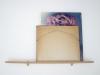 Paisaje Prestado, 2011, vue d'installation Esto No Se Mueve de Acá , Museo La Ene, deux images empruntées par le voisin et styliste Caliva, structure en bois, 80 x 65 cm, pièce unique