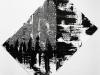 Se deja mirar / Faux expressionisme, 2015, encre de Chine et acrylique sur papier, 100 x 150 cm, pièce unique