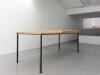 This object, or this table, should be considered more like a sculptural object, 2012, bois de chêne, métal, pierre naturelle, pièce unique photo © Aurélien Mole