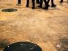 Dérangements, 2011, performance, installation, sucre en morceaux. ENSBA Paris, Paris, France