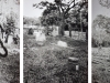 Estenopeicas rurales, Family  Garcia - Oriental bank of the Ariari river, 2015, tryptich, pinehole camera photographies, black and white, 42 x 52 x 3 cm with frame each piece, edition of 5 + 2 AP