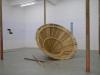 """Un autre """"Perses"""" d'Eschyle, 2017, walnut sculpture and installation, 214,8 x 214,8 x 130 cm, unique piece. Production Le Grand Café - centre d'art contemporain, Saint Nazaire, France"""