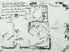 Estenopeicas rurales, Dessin préparatoire Don Luis - San Luis De Ocoa, 2015,  dessin sur papier, sous verre, cadre en ruban adhésif blanc, 25 x 19 cm avec cadre, pièce unique