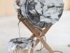 Palenqueros - Tambour Quitambre hembra, 2013, cuir tanné en parchemin, cordage artisanal en chanvre, douves pour tonneau de châtaignier, cales en chêne brulé, 60 cm x 37 cm diamètre, pièce unique, photos Tadzio © Fondation d'Entreprise Hermès