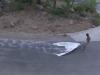 Cayuco, Sillage Oujda/Melilla, Un bateau disparaît en dessinant une carte, 2012, vidéo HD 16 : 9, couleur, son, 55', édition de 5 + 2 EA, version française et anglaise. Collection Fonds Régional d'Art Contemporain Aquitaine, France