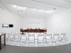 The Square Table: Public Hearing of the Recruitment Requirements for the Artist-position Goverment Official, 2013, mixt installation, performance. Presented in New Vision, New Voices, National Museum of Modern and Contemporary Art, Gwacheon, South Korea, 2013