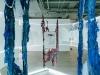 Contre Attaque, 2017, installations, néons, lambeaux d'oeuvres, divers matériaux, dimensions variables, pièces uniques. Installations à la Fondation Ricard, Paris, France