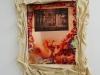 Evasion I, 2018, impression sur plaque de cuivre, oxydation, toile de coton cirée, colle à bois, tasseaux bois, environ 60 x 80 cm, pièce unique. Collection Fonds d'art contemporain – Paris Collections