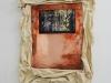 Evasion III, 2018, impression sur plaque de cuivre, oxydation, toile de coton cirée, colle à bois, tasseaux bois, environ 60 x 80 cm, pièce unique. Collection Fonds d'art contemporain – Paris Collections