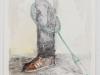 Pilori, 2017, aquarelle et encre sur papier, 40 x 60 cm, pièce unique